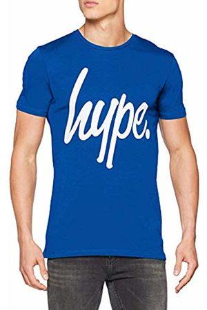 Hype Men's Script T - Shirt (Blu )