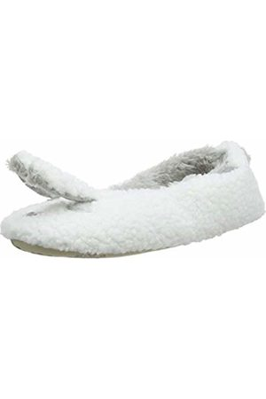 Totes Women's Ladies Novelty Ballet Slippers Low-Top, (Cream CRM)