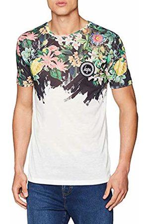 Hype Men's Floral Brushstroke T - Shirt (Bianco / )