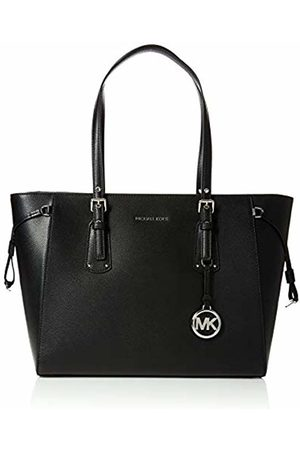 Michael Kors Womens Voyager Canvas and Beach Tote Bag