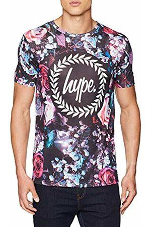 Hype Men's Rose Bed Crest T - Shirt (Multicolore Multi)