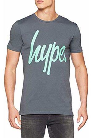 Hype Men's Script T - Shirt (Grigio Charcoal)