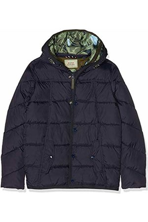 Scotch&Soda Shrunk Boy's Quilted Puffer Jacket with Double Hood Construction in Mid L