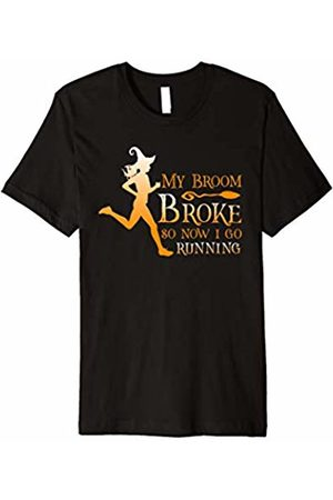 Halloween Runner Shirts My Broom Broke So Now I Go Running T-Shirt