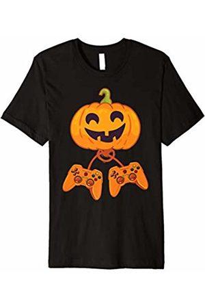 Blink Video Gamer Pumpkin T-Shirt Funny Halloween Costume