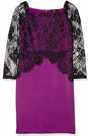ISASSY Party Lace dress - Women's Sexy Floral Lace Pencil Bodycon Evening Cocktail Party Formal Off Shoulder Long Sleeve UK12 size L