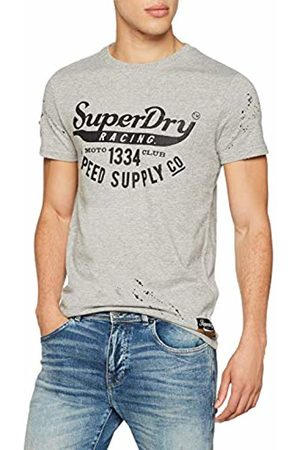Superdry Men's Customs 3rd Street Pocket Tee Kniited Tank Top, (Biker Grit Vn5)
