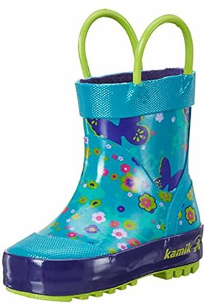 Kamik Girls' Flutter Wellingtons, Türkis (Teal-Bleu Sarcelle)