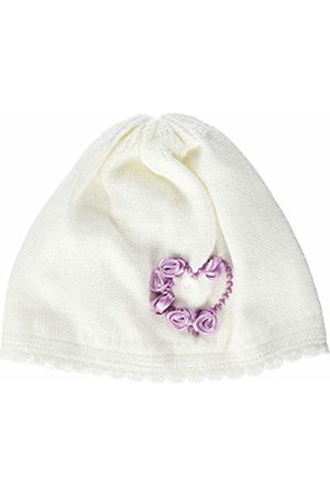Döll Baby Girls' Topfmütze Strick Hat, (Snow 1050)