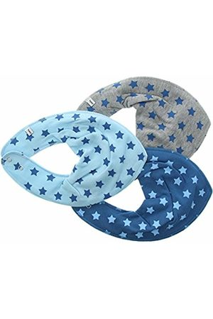Pippi Baby-Boys Bib AO-Printed 3-Pack Starred Scarf