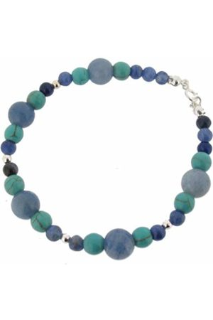 Earth Aventurine and Turquoise Beaded Bracelet at 19cm in Length