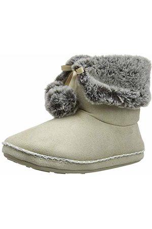 Totes Women's Ladies Suedette Fur Bootie Slipper Hi-Top, (Natural NAT)