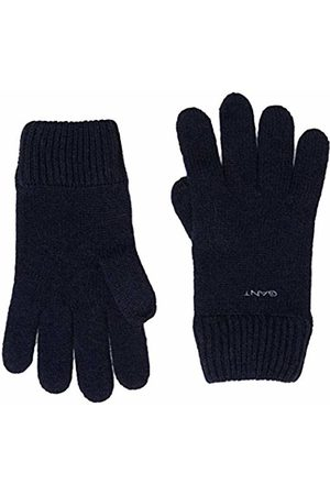 GANT Men's O2. Knitted Wool Gloves, (Marine)