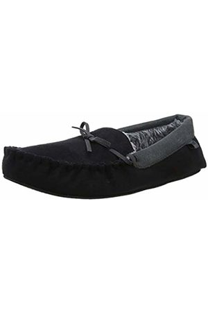Totes Men Trainers - Mens Suedette Mocc Slippers Low-Top ( / Blk)
