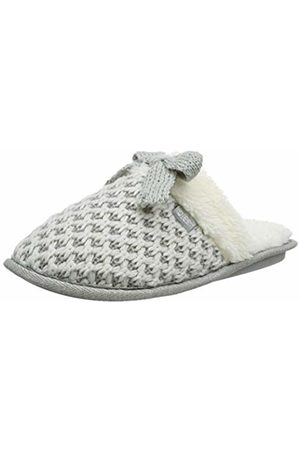 Totes Women's Ladies Waffle Knit Mule Slippers Open Back ( Gry)