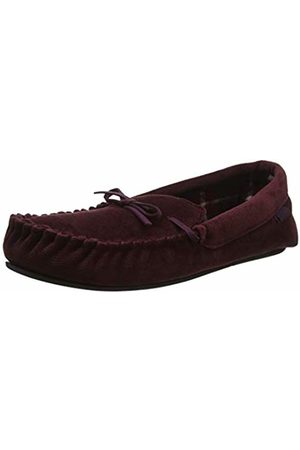 Totes Mens Check Lined Cord Mocc Slipper Low-Top
