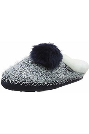 Totes Women's Ladies Sequin Hairy Mule Slippers Open Back