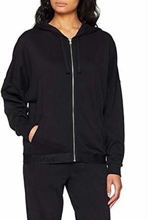 Calvin Klein Women's Full Zip Hoodie Sweatshirt, ( 001)