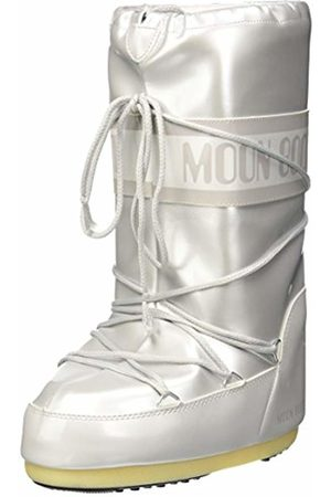 Moon Boot Women Vinile Met. Snow Boots, Bianco
