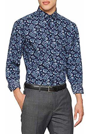 Seidensticker Men's Comfort Langarm mit Covered-Button-Down-Kragen Soft Paisley Business Shirt