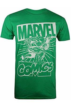 Marvel Men's Hulk Lift T-Shirt, (Irish Grn)