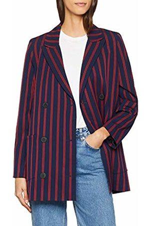 Libertine Libertine Women's Shift Blazer, (Dark Navy/ Stripe 4)