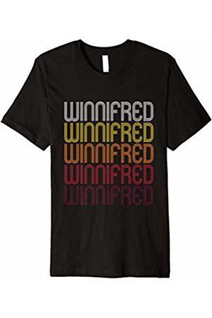 Ann Arbor Winnifred Retro Wordmark Pattern - Vintage Style T-shirt