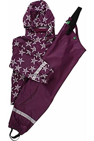 Green Cotton Girl's Rainwear Set Star Clothing