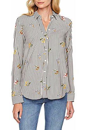 Seidensticker Women's Hemdbluse Comfort Fit mit Hemdblusenkragen Langarm Blumendruck Blouse