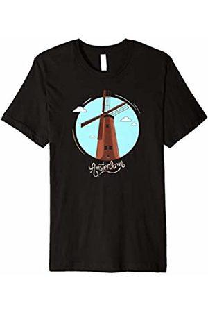 Amsterdam T-Shirts Men T-shirts - Amsterdam Netherlands Retro Shirt