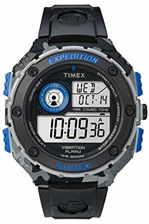 Timex Men's Quartz Watch with LCD Dial Digital Display and Black Resin Strap TW4B00300