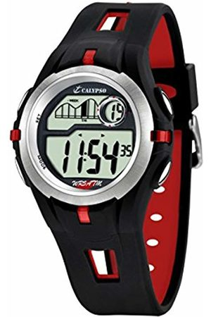 Calypso Unisex Digital Watch with LCD Dial Digital Display and Plastic Strap K5511/4