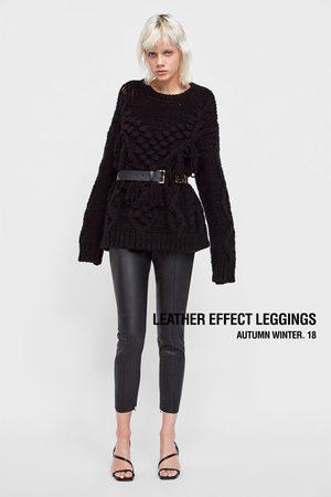 Zara LEATHER EFFECT LEGGINGS