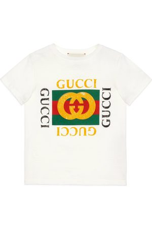 Gucci Childrens cotton T-shirt with logo