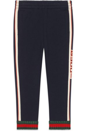 Gucci Childrens pant with jacquard trim