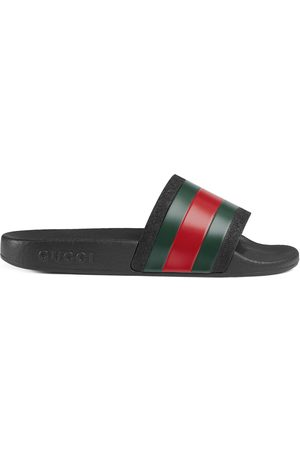 Gucci Childrens rubber slides with Web