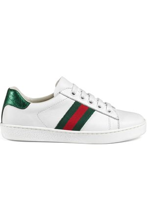 352b1c90ac5 Children s Ace leather high-top sneaker. Gucci Childrens leather low-top  with Web