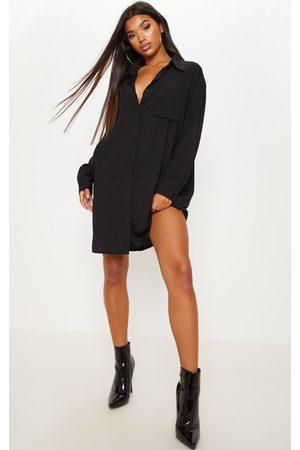 PRETTYLITTLETHING Oversized Boyfriend Shirt Dress