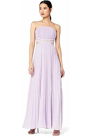TRUTH & FABLE Bm Bling Halter Pleat Maxi Party Dress
