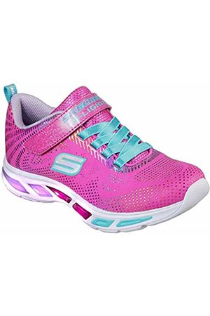 Skechers Girls' Litebeams-Gleam N'DREAM Trainers, (Neon /Multi Npmt)