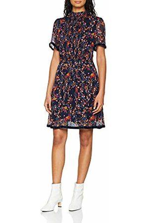 723912e3 Tommy Hilfiger Women's Simone Dress Ss, (Folklore Floral PRT/Sky Captain ...