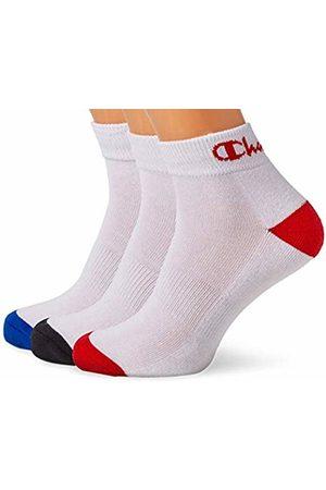 Champion Performance Ankle, Chaussettes de Sport Homme, Multicolore (Blanc/Noir, Blanc/Bleu, Blanc/Rouge 8lz)
