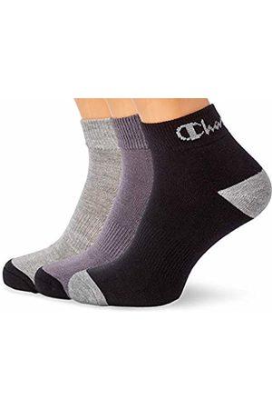 Champion Performance Ankle, Chaussettes de Sport Homme, Multicolore (Noir/Gris Foncé/Gris Clair 8m0)