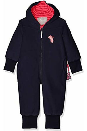 sigikid Girls' Fleece Overall, Baby Snowsuit, (Blau (Mood Indigo 275)