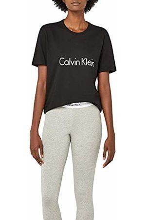 Calvin Klein Women's S/s Crew Neck Pyjama Top, ( 001)