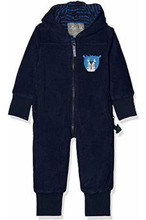 sigikid Boys' Fleece Overall, Baby Snowsuit, (Blau (Mood Indigo 275)