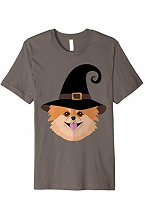 Salem Funny Halloween Tshirt Pomeranian Dog With Witch Hat Funny Dog Lover Halloween Tee