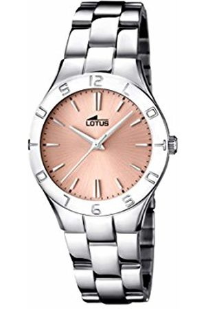 Lotus Women's Quartz Watch with Rose Dial Analogue Display and Stainless Steel Bracelet 15895/2