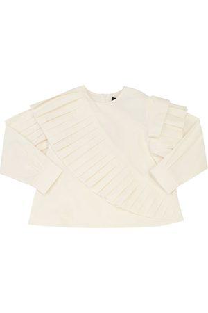 MUMMYMOON Ruffled Cotton Poplin Shirt