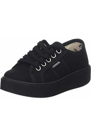 victoria Girls Trainers - Girls' Basket Lona Piso Negro Trainers, 10